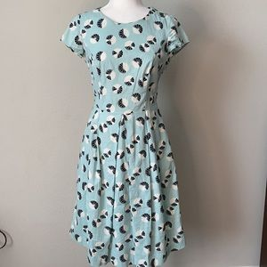 DownEast Retro Inspired Fit and Flare Dress Small